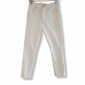 COH White Olivia Petite High-Rise Slim Ankle Jeans